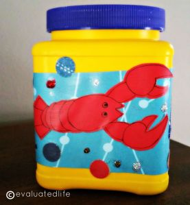 The Lobster Fund, complete with glitter embellishments.